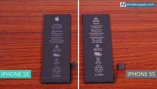 So ben trong iPhone SE va 5S hinh anh 3