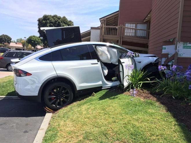 Gap nan voi Tesla Model X vi dap nham chan ga hinh anh 1
