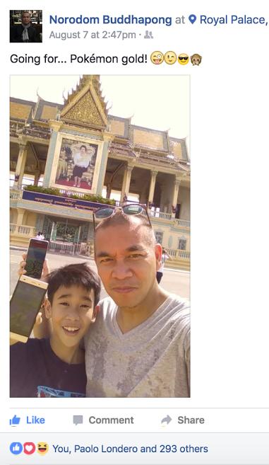 Hoang tu Campuchia bat pokemon trong cung dien hinh anh 2