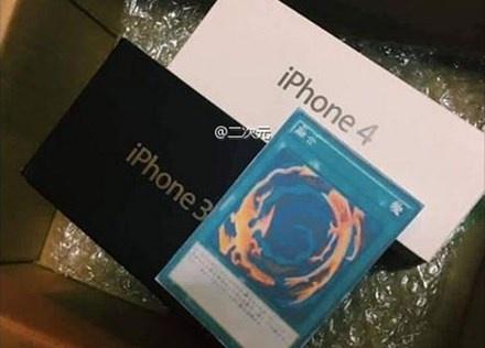 Mua iPhone 7, co gai nhan ve iPhone 3, 4 va la bai bi an hinh anh