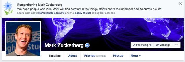 Facebook thong bao Mark Zuckerber va 2 trieu nguoi qua doi hinh anh 1
