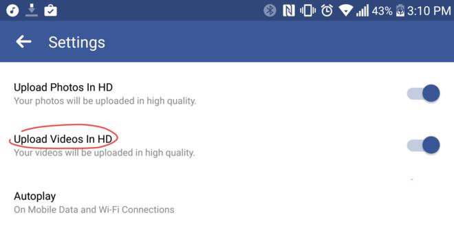 Facebook cap nhat tinh nang tai video HD cho Android hinh anh