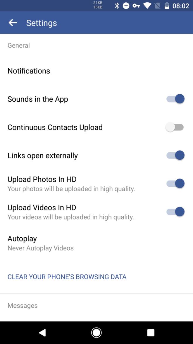 Facebook cap nhat tinh nang tai video HD cho Android hinh anh 1