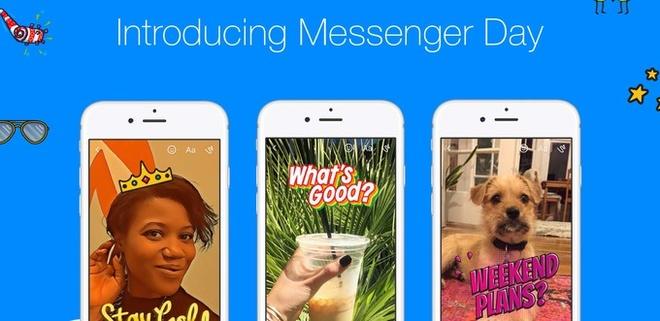 Facebook ra mat tinh nang Messenger Day gan giong Snapchat Stories hinh anh