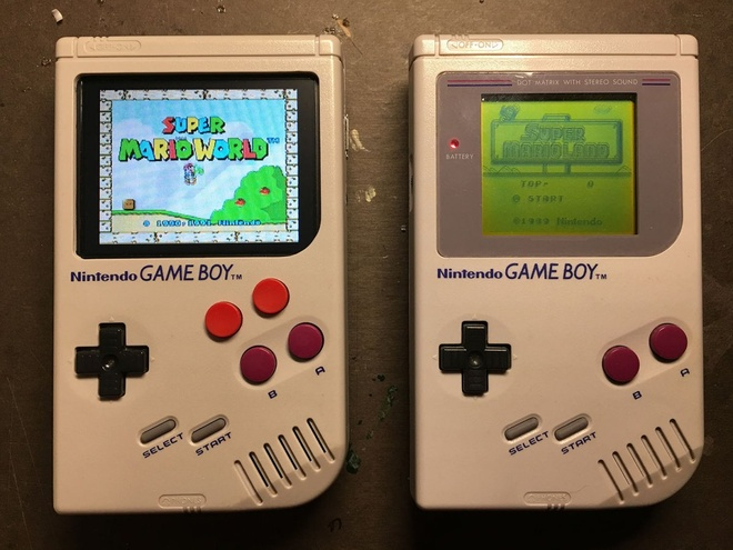 Ban do Game Boy Nintendo man hinh mau, bon nut, cau hinh manh hinh anh