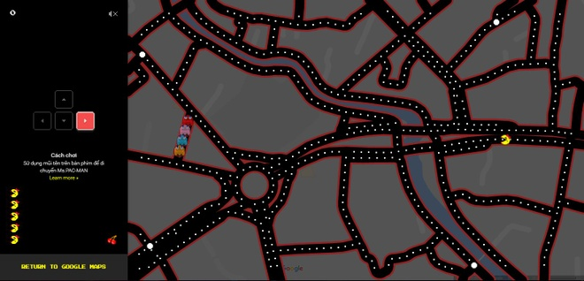 Choi Pac-Man tren Google Maps anh 1