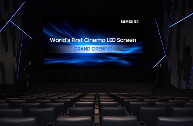 Samsung muon thay the may chieu phim bang man hinh 4K dai 10 met hinh anh 1