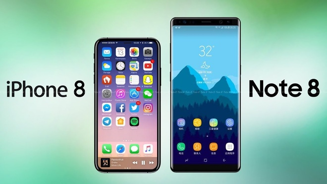 iPhone 8, Galaxy Note 8 kem ben hon the he truoc hinh anh 1