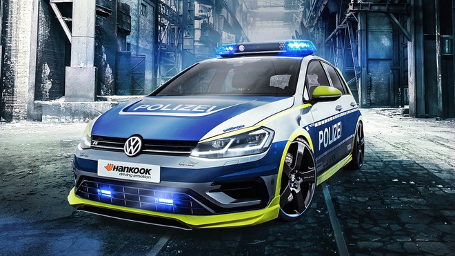 Volkswagen Golf R phien ban canh sat Duc manh 400 ma luc hinh anh