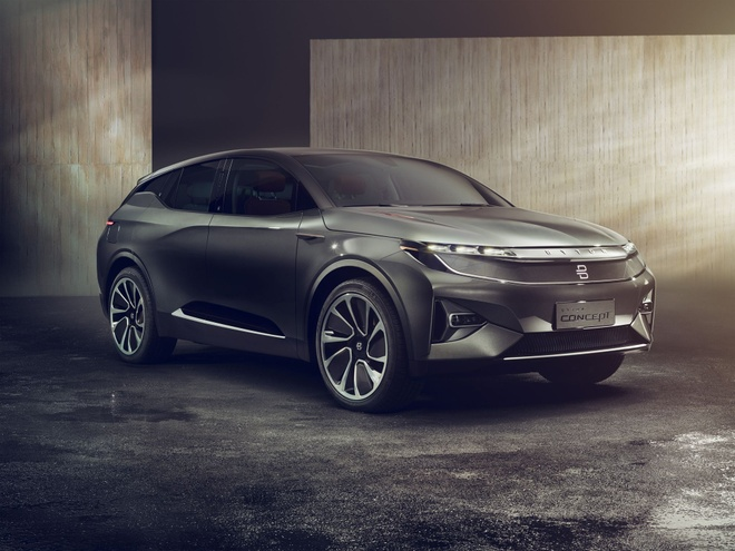 Anh Byton Concept, xe dien tu Trung Quoc gia bang nua Tesla Model X hinh anh