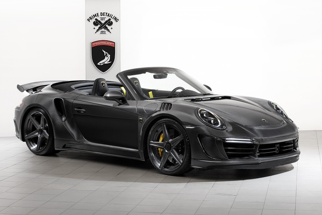 Ban do Porsche 911 Turbo S dat vang va soi carbon tu Nga hinh anh