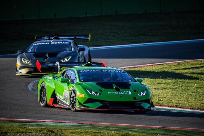 Sieu xe dua Lamborghini Huracan Super Trofeo Evo ra mat hinh anh