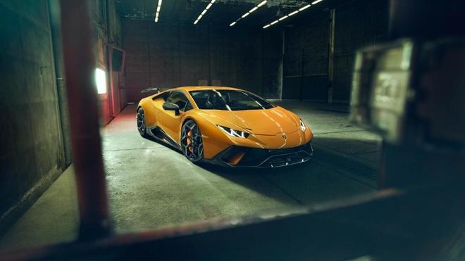Lamborghini Huracan Performante du dan hon qua ban tay Novitec hinh anh