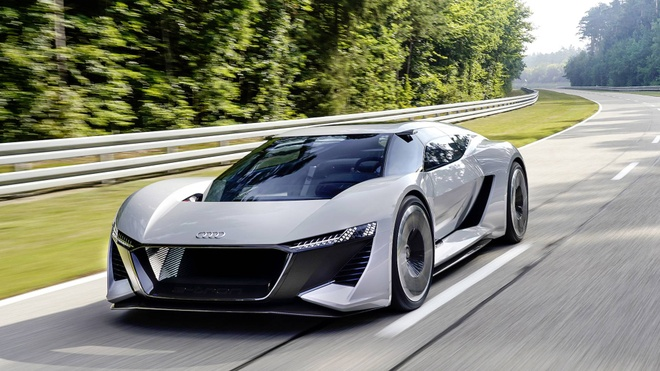 Sieu xe dien Audi PB18 E-Tron Concept ra mat, manh 671 ma luc hinh anh