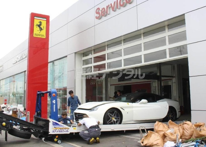 Dai ly Ferrari tai Nhat thiet hai 9 trieu USD do sieu bao Jebi hinh anh