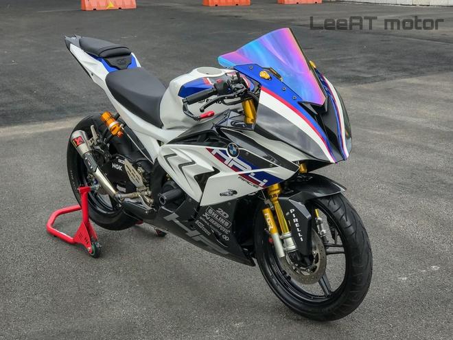 Yamaha R15 hoa 'ca map chua' BMW HP4 Race boi tho Viet hinh anh