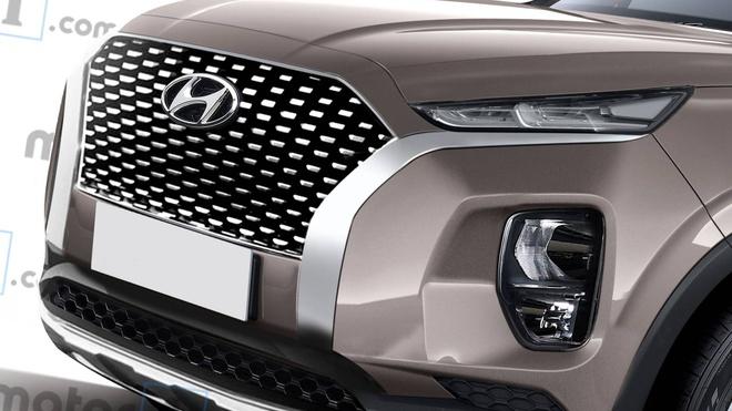Hyundai Palisade - phien ban co bap cua Santa Fe lo dien hinh anh 3