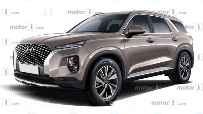Hyundai Palisade - phien ban co bap cua Santa Fe lo dien hinh anh 1
