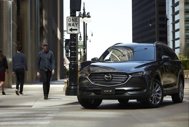Mazda CX-8 2019 ra mat tai Nhat Ban, them dong co tang ap hinh anh