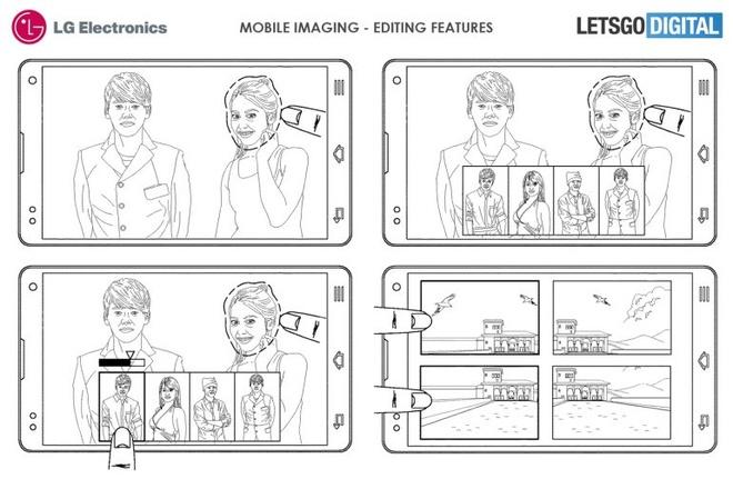 LG minh họa về khả năng lắp ghép hình ảnh sau khi chụp.