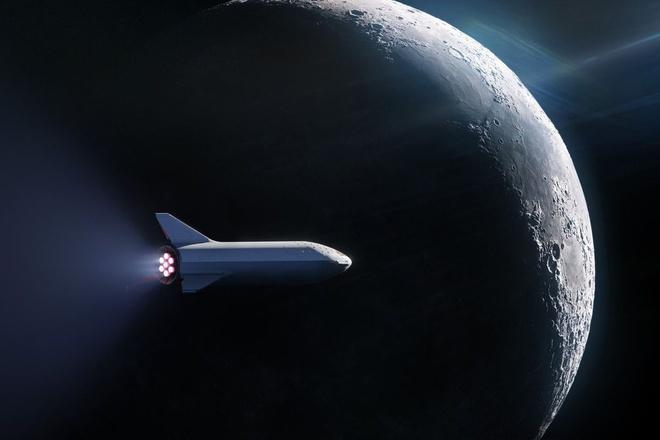 Elon Musk khoe ten lua co the di den mat trang, sao hoa hinh anh