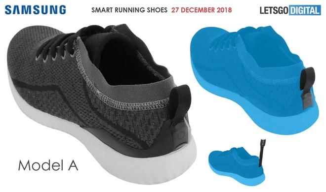 Giày thông minh của Samsung đã được đăng kí bằng sáng chế. Ảnh: Letsgodigital.