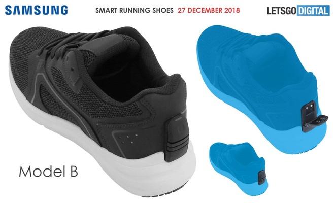 Giày thông minh kiểu B, người dùng sẽ cần mở nắp nhựa và bấm nút kích hoạt. Ảnh: Letsgodigital.