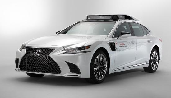 Lexus LS thanh mau vat cho cong nghe tu lai cua Toyota hinh anh