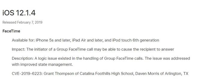 Apple phat hanh iOS 12.1.4, va loi FaceTime hinh anh 2