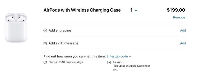 Apple mien phi khac ten len AirPods va Apple Pencil hinh anh 1