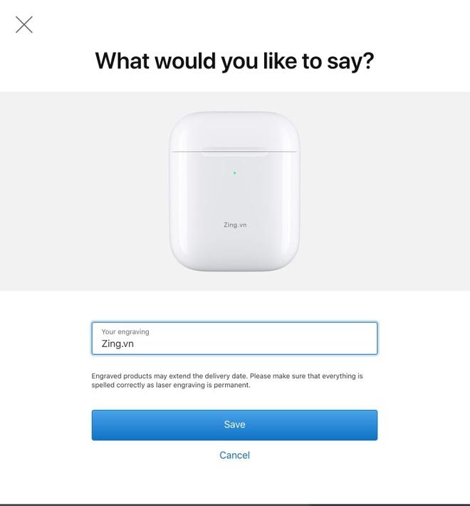 Apple mien phi khac ten len AirPods va Apple Pencil hinh anh 2