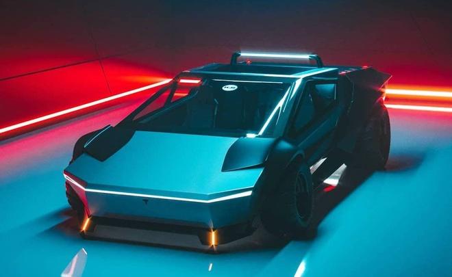 Sieu xe Cyber Roadrunner hoc tap thiet ke cua Tesla Cybertruck hinh anh 2