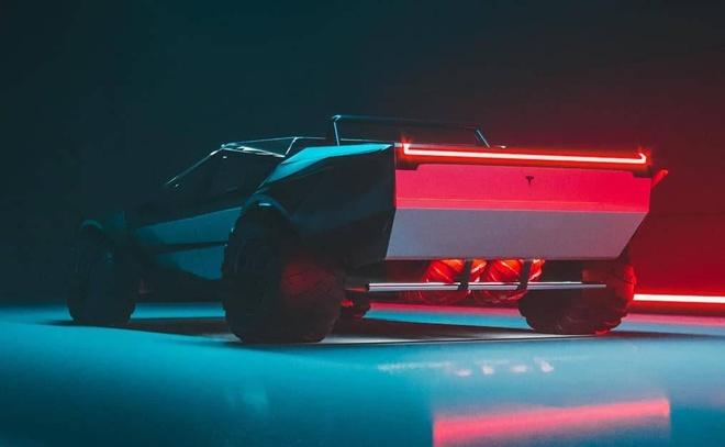 Sieu xe Cyber Roadrunner hoc tap thiet ke cua Tesla Cybertruck hinh anh 5