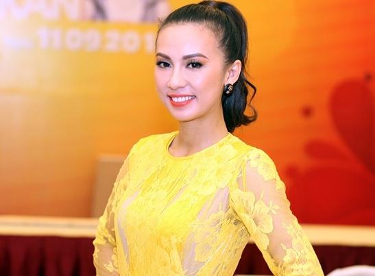 Huyen Ny lam MC chung ket 'Hoa hau phu nhan toan cau' hinh anh