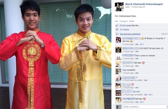 Hot boy 'Tuoi noi loan' gay sot voi anh mac ao dai Viet Nam hinh anh 1