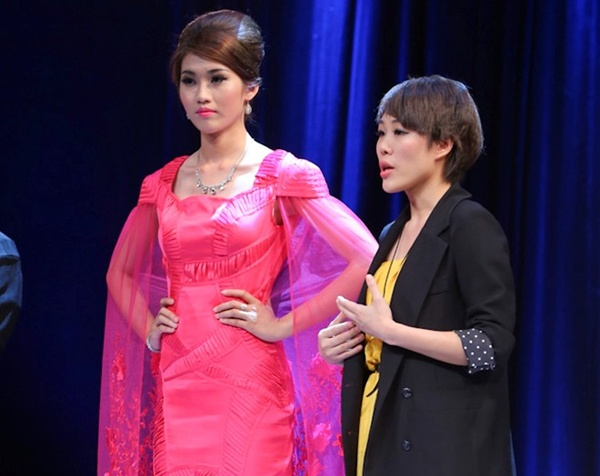Ba me tre Thuy Nga doan Ly Giam Tien thang Project Runway hinh anh