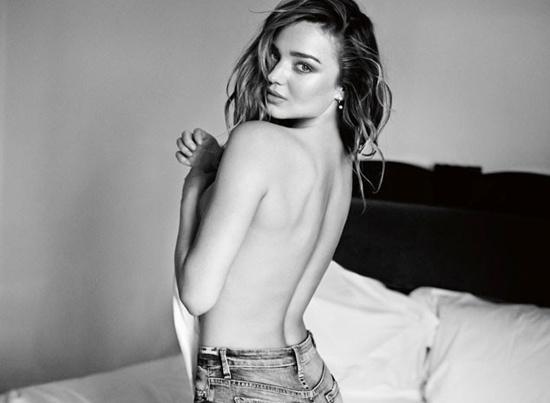 Miranda Kerr quang cao do jeans hinh anh