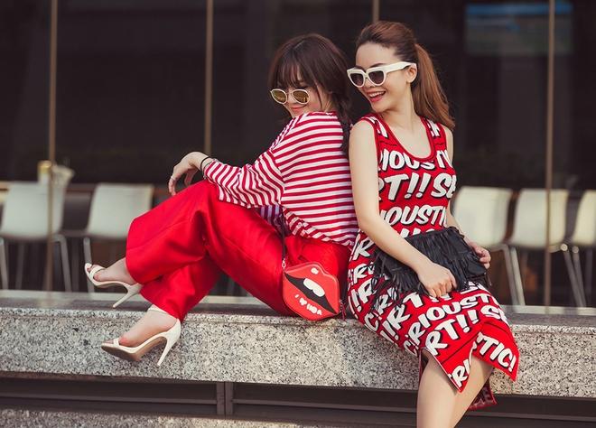 Chi em Yen Trang - Yen Nhi sanh dieu xuong pho hinh anh 3