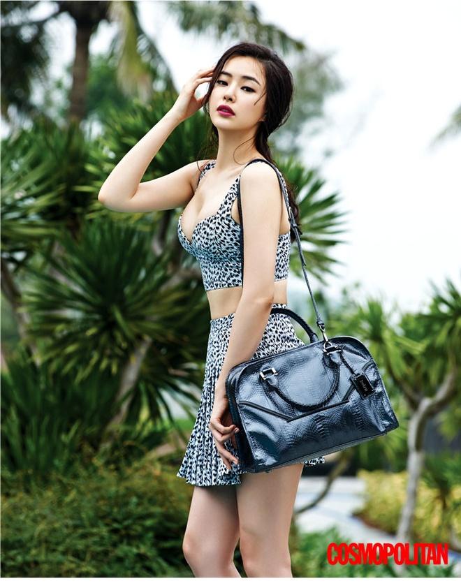 Hoa hau dep nhat Han Quoc khoe dang nong bong tai Da Nang hinh anh 3