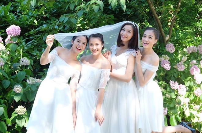 Hoa hau Ngoc Han lam phu dau cho sieu mau Thuy Huong hinh anh 2