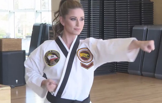 Hoa hau My tro thanh dai su taekwondo the gioi hinh anh