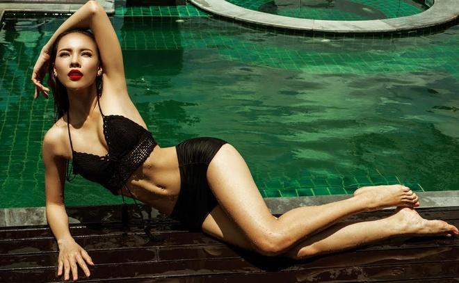 A khoi Le Quyen tung anh bikini truoc them di thi hoa hau hinh anh