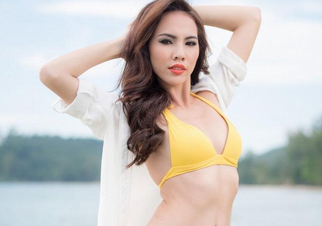 Thi sinh Miss Grand International khoe dang voi ao tam hinh anh