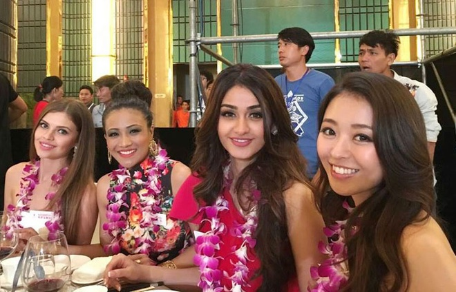 Lan Khue dien dam cup nguc o tiec chao mung Miss World hinh anh 10