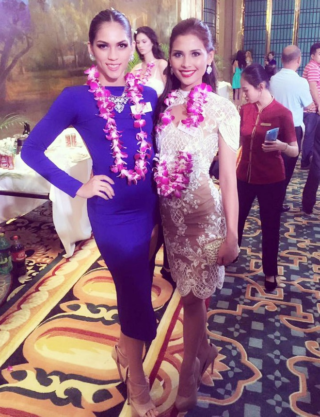 Lan Khue dien dam cup nguc o tiec chao mung Miss World hinh anh 8