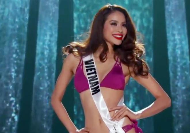 Pham Huong tu tin trinh dien tai ban ket Miss Universe hinh anh