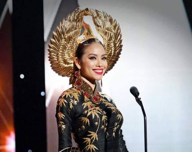 Pham Huong mac ao dai chim hac thi quoc phuc hinh anh