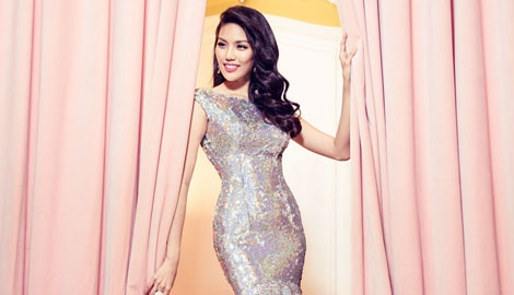 Lan Khue chon dam duoi ca cho chung ket Miss World hinh anh