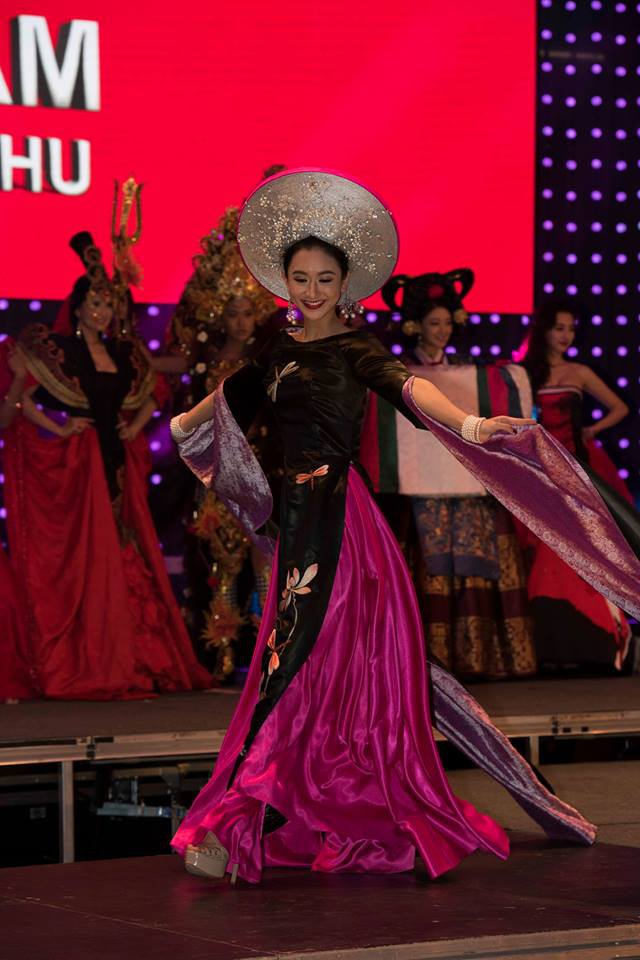 Ha Thu lot top 17 chung ket Hoa hau Lien luc dia hinh anh 1