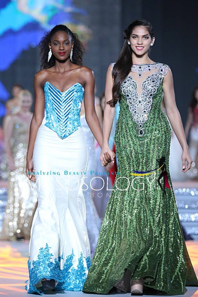 Lan Khue long lay tren san khau tong duyet cua Miss World hinh anh 8